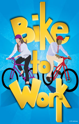 Bike to Work Week Poster - 2012