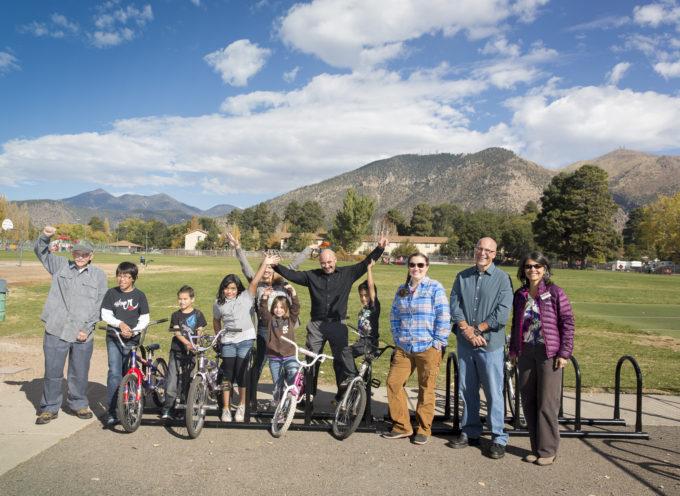 72 Bike Racks Installed for Flagstaff Schools!