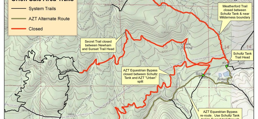 Orion Timber Sale Trail Closures