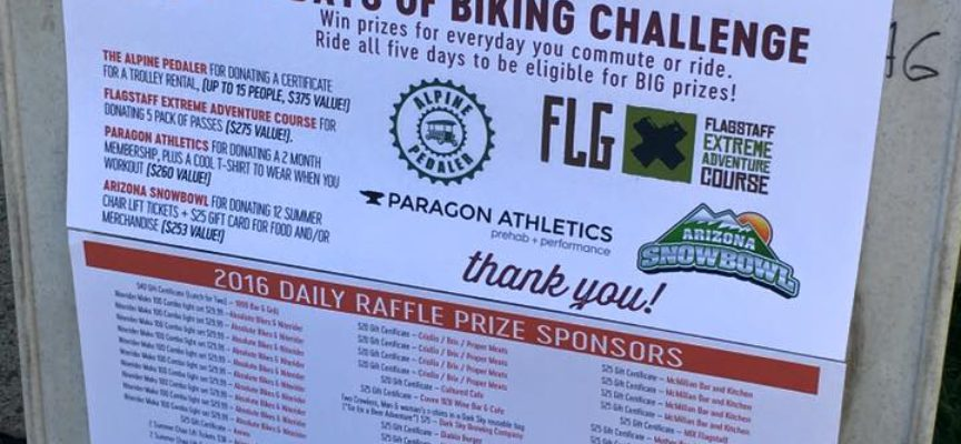 5 Days of Biking – Thursday Raffle Prize Winners!