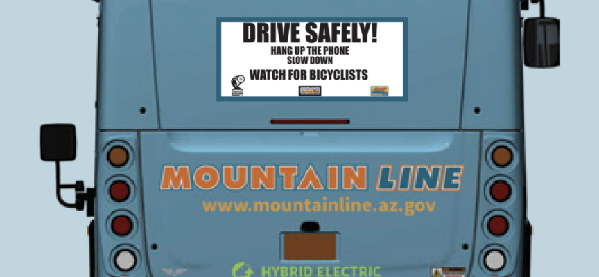 NOAZ Signs and Mountain Line partner to help spread cycling safety message